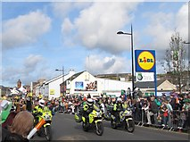 J4844 : PSNI outriders leading the Downpatrick St Patrick's Day Parade by Eric Jones