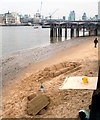 TQ3180 : Sand Sculptures on the South Bank by Des Blenkinsopp