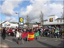 J4844 : The Spanish and Latvian Delegates at Downpatrick's St Patrick's Parade by Eric Jones
