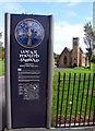 NZ4057 : Sign at St Peter's Church by Steve Daniels