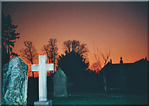 SD7336 : Red Sunset Whalley Church Yard by Tom Howard