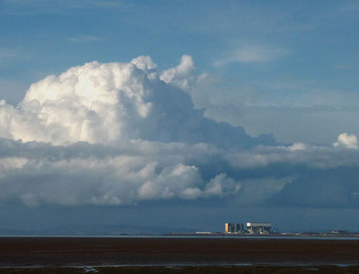 SD4059 : Clouds gather over Heysham power station by Karl and Ali