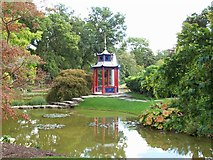 SU9185 : The Pagoda in the Cliveden Water Garden by Len Williams