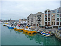 SY6778 : Weymouth - Harbourside Flats by Chris Talbot