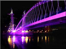SJ8097 : Salford Quays, The Lowry Bridge by David Dixon