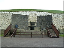 O0072 : Entrance to the Newgrange Passage Tomb by Graham Hogg