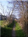 TM3877 : Swan Lane footpath by Adrian Cable