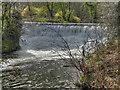 SJ8382 : River Bollin Weir by David Dixon