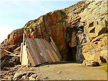 NX4235 : St Ninian's Cave - No Entry by Andy Farrington
