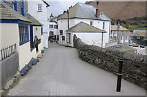 SW9980 : Narrow road in Port Isaac by Philip Halling