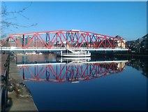 SJ8097 : Detroit Bridge, Salford Quays by David Martin