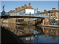 TQ2482 : Footbridge across Grand Union Canal by Derek Harper