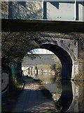 TQ2182 : Towpath beneath canal bridges near Harlesden by Derek Harper