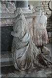 SK9576 : Damaged figures on Monson Memorial, St John's church, S. Carlton by J.Hannan-Briggs