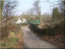 SE2800 : Bridge over the disused railway at the bottom of Roper House Lane by John Slater