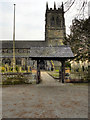 SJ6886 : St Mary's Church and Lychgate by David Dixon