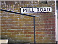 TM3863 : Mill Road sign by Adrian Cable