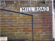 TM3863 : Mill Road sign by Geographer