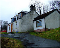 NS3373 : Cottage off Clune Brae by Thomas Nugent
