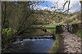 SK1454 : Weir on River Dove by Ian Taylor