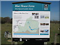 TQ8597 : Blue House Farm Nature Reserve Information Board by Roger Jones