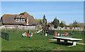TQ8597 : Children's playground by Roger Jones