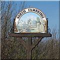 TQ8597 : North Fambridge Village Sign (Detail) by Roger Jones