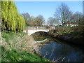 TQ1473 : Meadway bridge over the River Crane by Marathon