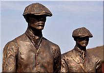 J3574 : Titanic Yardmen sculpture, Belfast (2) by Albert Bridge