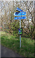 NT2274 : Local Cycle Route Waymarker by Anne Burgess