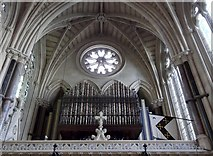 SP5106 : Organ pipes, Exeter College Chapel, Turl Street, Oxford by Robin Sones