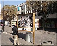 TQ7567 : Britain from the Air, Street Art, Chatham High Street (2) by David Anstiss