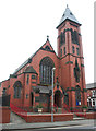 SJ7055 : St Mary's Church, Crewe: west front by Espresso Addict