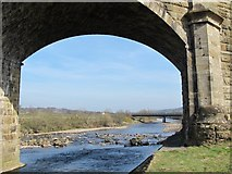 NY7063 : The River South Tyne downstream of Alston Arches Viaduct (2) by Mike Quinn
