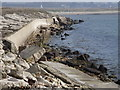 SU7601 : Sea Wall, Thorney Island by Colin Smith