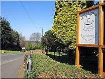 SO9975 : Rose Hill & Church Notice Board Lickey by Roy Hughes