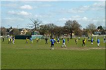 TQ2368 : Sunday morning football by Robin Webster