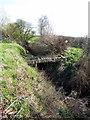 SP8035 : Ad Hoc bridge over the brook by Philip Jeffrey