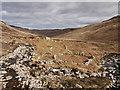 NR8938 : Walls of shielings in Glen Scaftigill by Trevor Littlewood