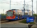SK3787 : Supertram approaching the Nunnery Depot by Graham Hogg