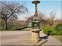 SJ9090 : Drinking Fountain and Bandstand by Gerald England