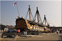 SU6200 : Portsmouth : Portsmouth Harbour - HMS Victory by Lewis Clarke