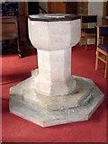 ST5308 : Font, St Mary's Church by Maigheach-gheal