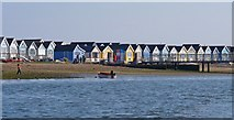 SZ1891 : Beach Huts on Mudeford Spit by Mike Smith