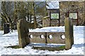 SK2176 : The village stocks, Eyam by Neil Theasby