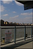 TQ3680 : Canary Wharf Pier: rabies warning notice by Christopher Hilton