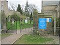 NZ1616 : Public footpath entering churchyard at St Mary's Parish Church in Gainford by peter robinson