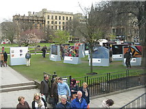 NT2574 : Exhibition, St Andrew Square by M J Richardson