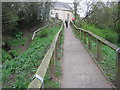NZ1616 : Public footpath from the banks of the River Tees to pass through the churchyard of St Mary's Parish Church in Gainford by peter robinson