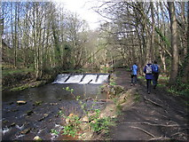 SK3189 : Weir at Wisewood mill pond by Rudi Winter